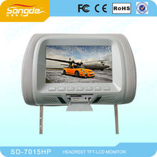 Factory supply good quality 7 inch Car Headrest Monitor with USB