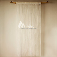 Romantic white European string valance curtain patterns