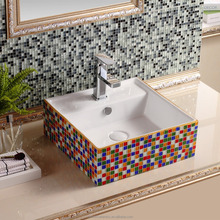 S8011S-2 Square 410mm Ceramic Bathroom Sink