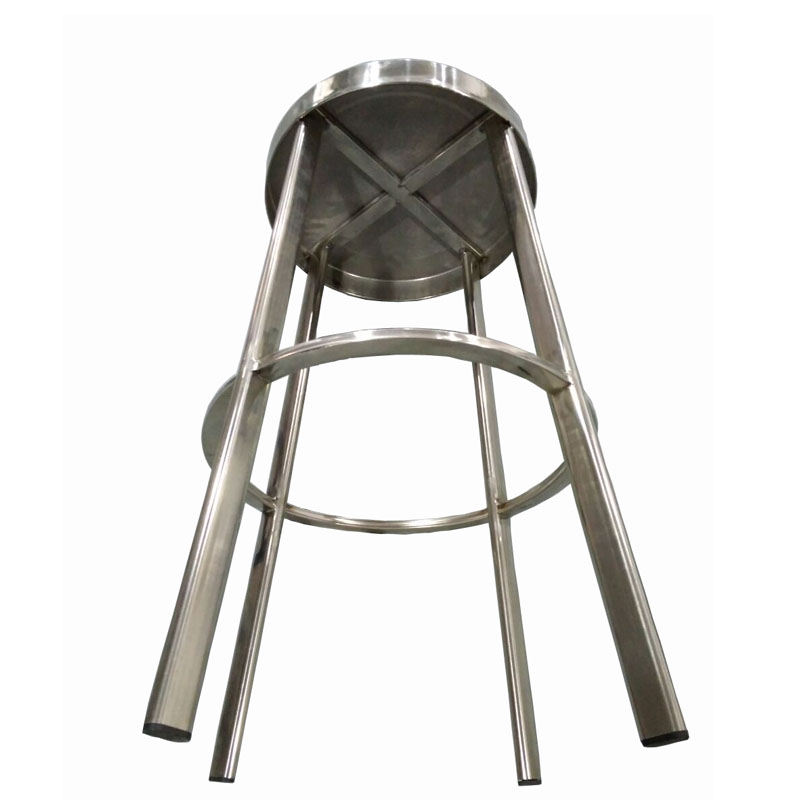 2018 New Deisgn Durable commercial furniture Stainless Steel Round Seat High Bar Stool