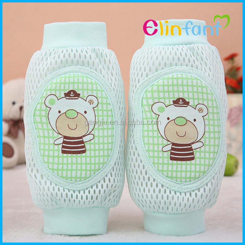 Green Soft cartoon Baby Safety Learn to walk pads baby crawling knee protector