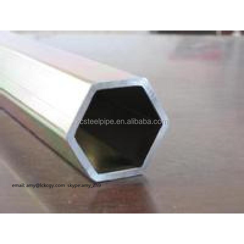 EN1A hexagonal steel tube pipe