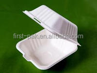 biodegradable bagasse pulp 6inch food box