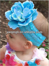 2013 Fashion style Mixed color Headband with Flower for Girls Baby Aqua Flower Headband Hair Accessories for Children