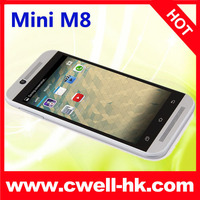 4.3 inch Mini M8 mobile phone display function MTK6572W Dual Core Android 4.2 smart phone used mobile phone