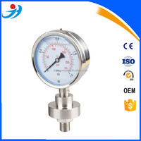 All Stainless Steel 316 bottom connection Diaphragm pressure Gauge