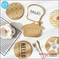 Custom shape kitchen table mats cork coaster with 1 color silk screen printing