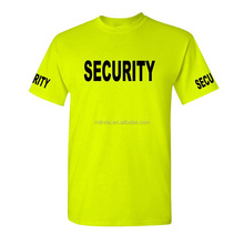 Mens Poly Cotton T-Shirt Preshrunk Jersey Knit Tee Green Security Guard Uniform Color