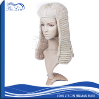 Handsome male lawyer wig cap The judge Fever long white lawyer wig caps hair wig