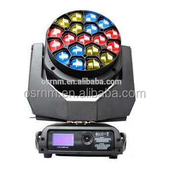 2016 Alibaba manufacturers 19x15W RGBW 4in1 Led Big-eye Beam & Wash Moving Head stage Light