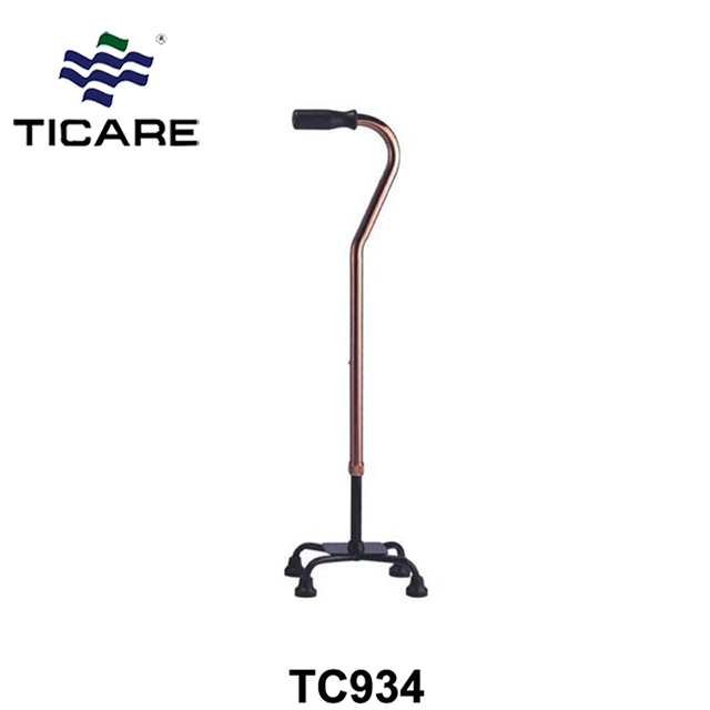 Adjustable Aluminum walking cane with 4 legs