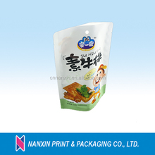 Aluminum foil stand up pouch for packing beef