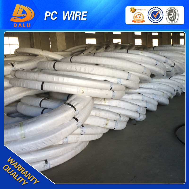 Railway Sleeper Use High carbon 1670mpa spring stainless PC Steel Wire crab trap