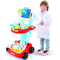 Children electronic plastic musical pretend toy learning educational doctor toys for kids 2018