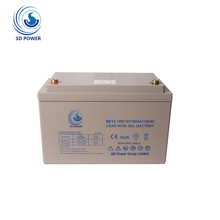 new design high capacity gel deep cycle 12v 100ah battery solar <strong>c10</strong> battery for system