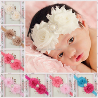 Free shipping in stock rhinestone infant flower ice headbands