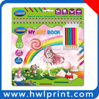 new design fashion funny painting book for kids