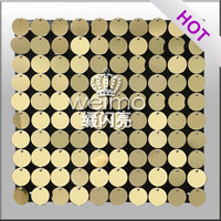 2016 Patent Gold Sparkling Sequin Wall