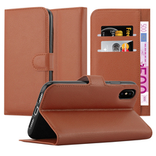 E-Tree brand original pu wallet case for apple iphone X leather case flip stand function