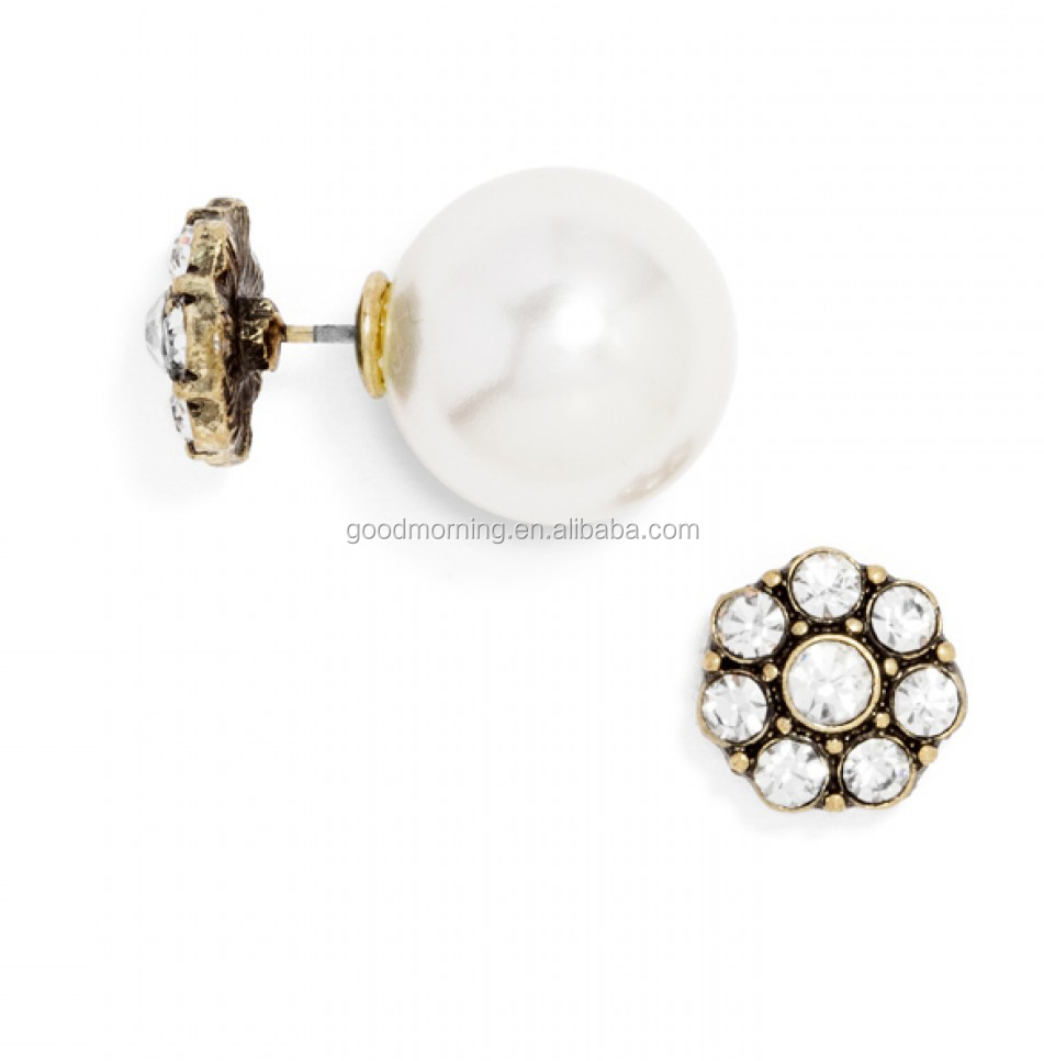 Flora 360 Front an Back Double Sides Stud Earring
