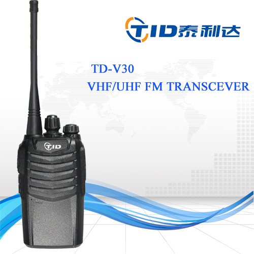TID Td-v30 walkie talkie CE single band portable hand-held radios 136-174/ 400-470mhz