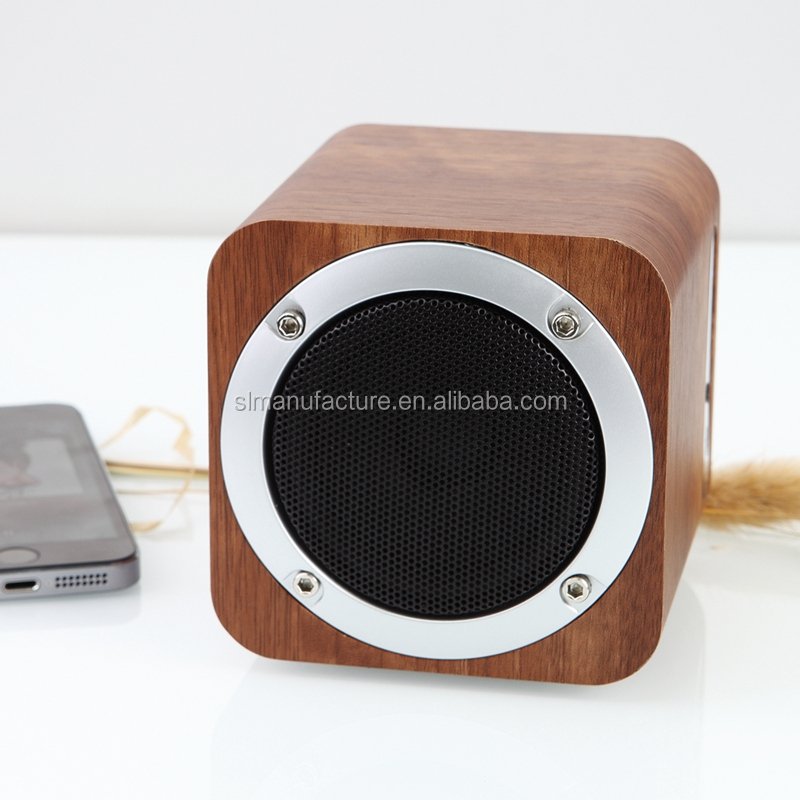3D surround sound High Quality OEM Professional Mini Portable Wooden Wireless Bluetooth Speaker