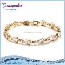 Fashion women's austrian crystal gold nugget bracelet