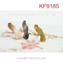 Lucky birds invisible plate copper rings finger nail jewelry