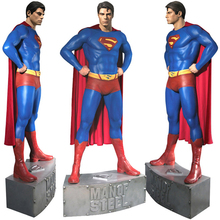 outdoor garden decoration resin craft life size superman statue