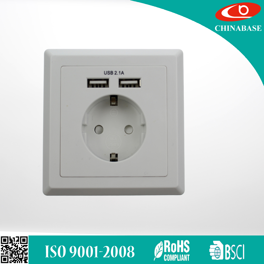 bulk price 240v usb wall socket for EU