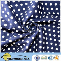 100%cotton poplin dot printed fabric