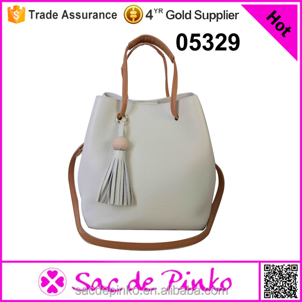 new handbag factory beige tote bag casual leisure bag white handbag of <strong>leather</strong>