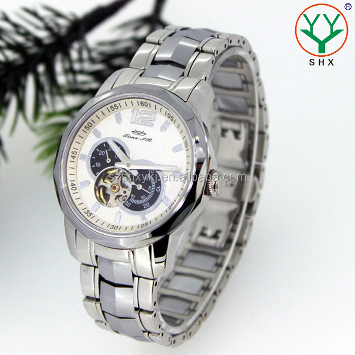 Waterproof Sapphire Japanese Movement Men Skeleton Automatic Watch