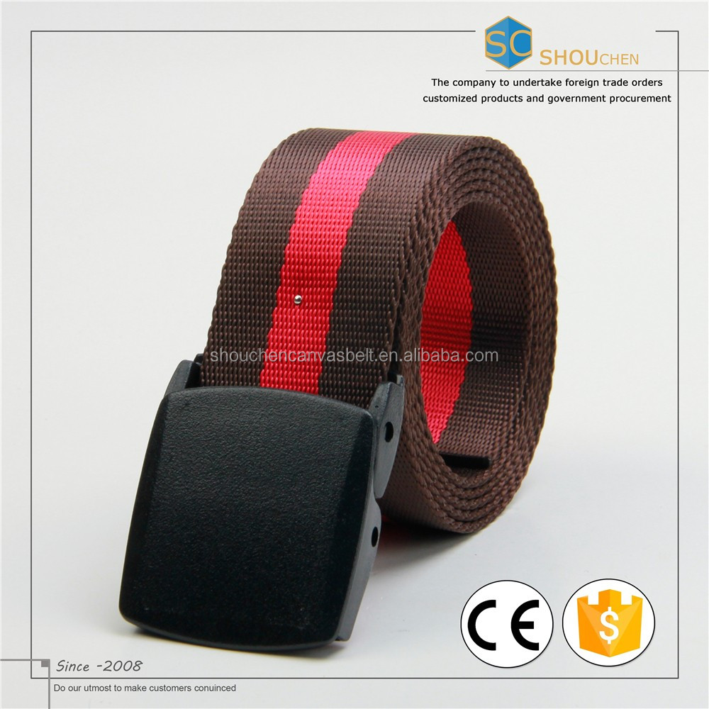 Factory driect stripe 100%Polyester belt out doors belts leisure