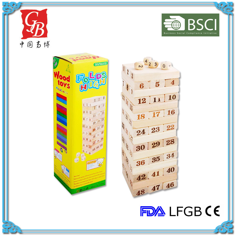 high quality wooden blocks game jenga block