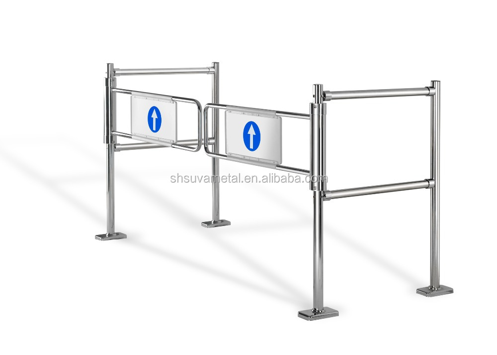 Induction supermarket swing tube gate / supermarket entrance and exit gate