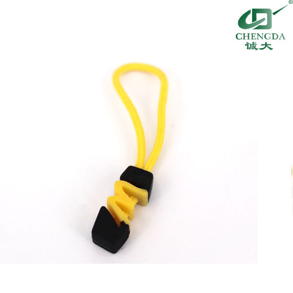 string silicone puller zipper slider for sportswear