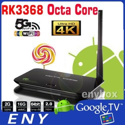 RK3368 2G+16G Octa Core TV Box Kodi 16.0 HD 4K2K output BT 4.0 RK3368 Android5.1 TV Box
