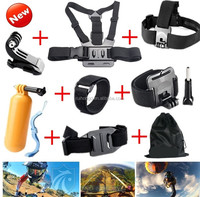 Gopros Accessories Chest Head Strap Bobber Bundle Mount for Heros 4 3+2 xiaomi yi action camera sjcam sj4000 GS22
