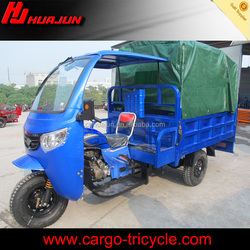 China factory Supplier 3 Wheel Trike Motorcycle Roof with Powerful Rear Axle /Cargo Tricycle With Cabin for Sale