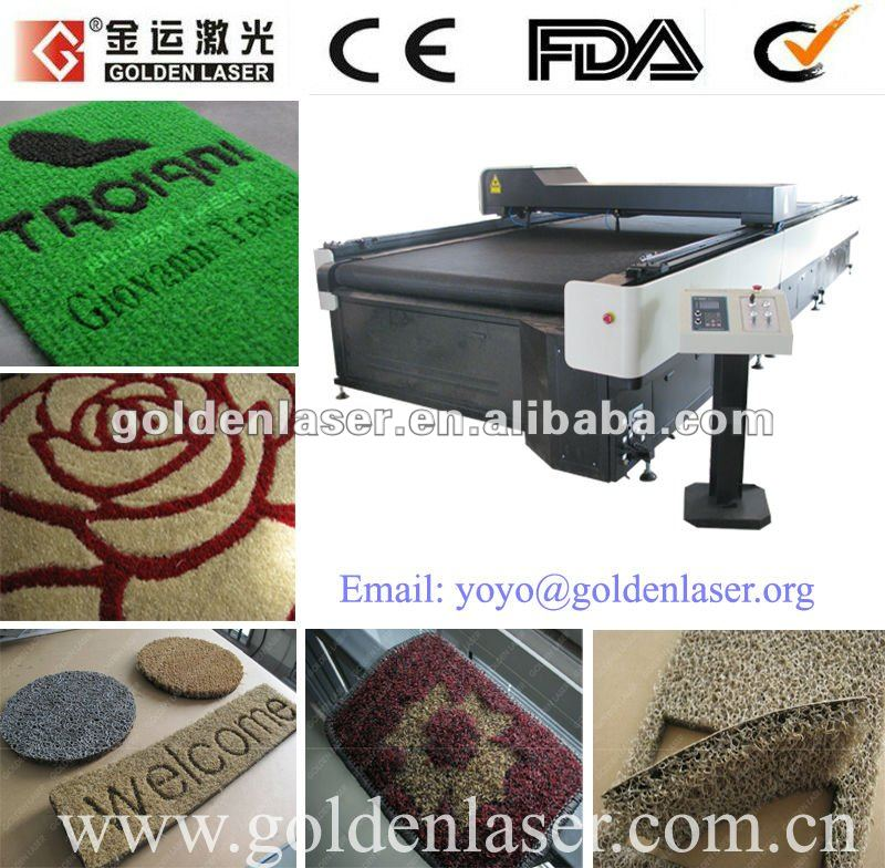 textile backed pvc mats laser machine for cutting/carving