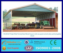 ISO certified steel structure carports/garages/canopies