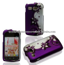 Cellular Phone Cover For Kyocera Hydro C5170 Purple Vine Design Hard Cover