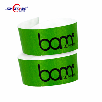 High quality cheap one time use paper NFC bracelet passive RFID wristbands