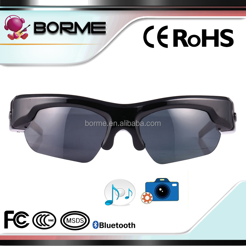 Wireless Hidden Camera Bluetooth Camera Sunglasses HD 1080p Video Recording for diving