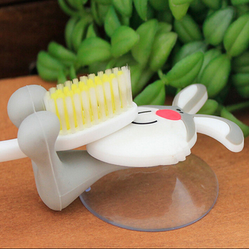 Wholesale cartoon silicone tooth brush holder for kids,high quality custom made cute kids silicone toothbrush holder
