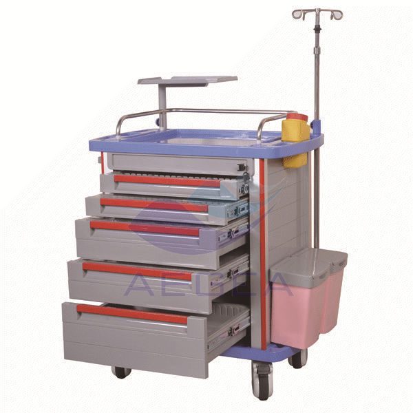 AG-ET001A1 medical nursing rescuation equipment hospital emergency crash trolley