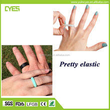 Cheap price simple design comfortable flexible silicone finger wedding ring size 5-13