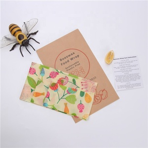 Sustainable Eco Friendly Products Bee Wax Wrap Food Reusable Natural Ingredients Beeswax Food Storage Wraps