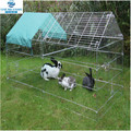 galvanised steel poultry chicken pet animal pen enclosure run with sunshade